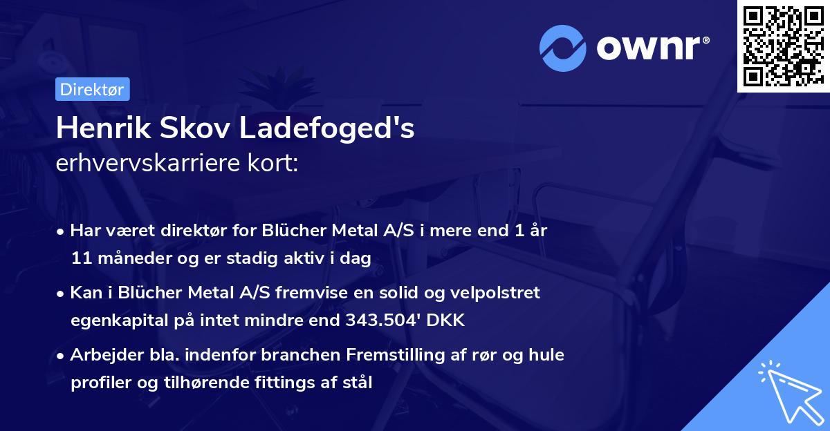 Henrik Skov Ladefoged's erhvervskarriere kort