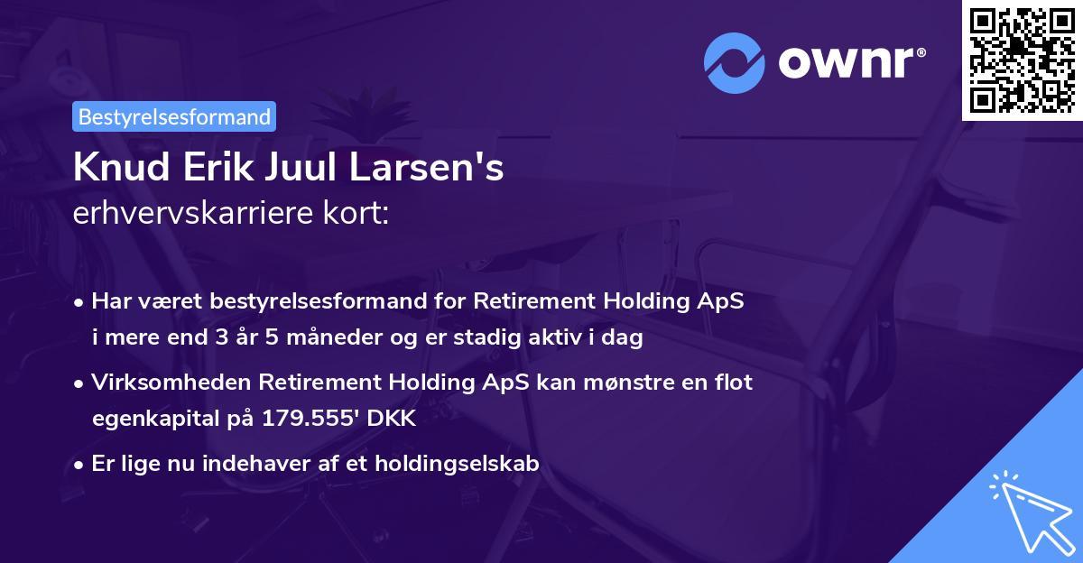 Knud Erik Juul Larsen's erhvervskarriere kort