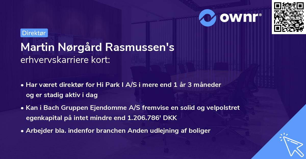 Martin Nørgård Rasmussen's erhvervskarriere kort