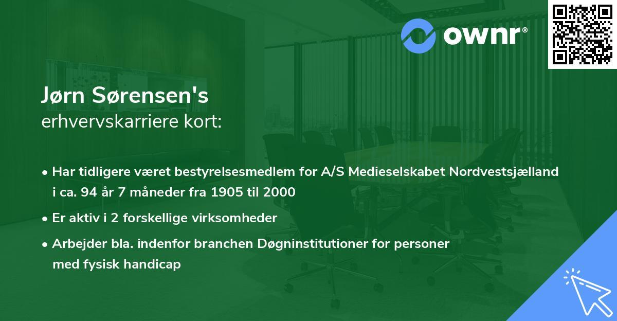 Jørn Sørensen's erhvervskarriere kort