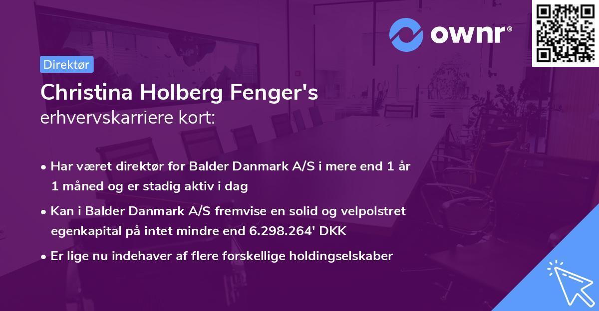 Christina Holberg Fenger's erhvervskarriere kort