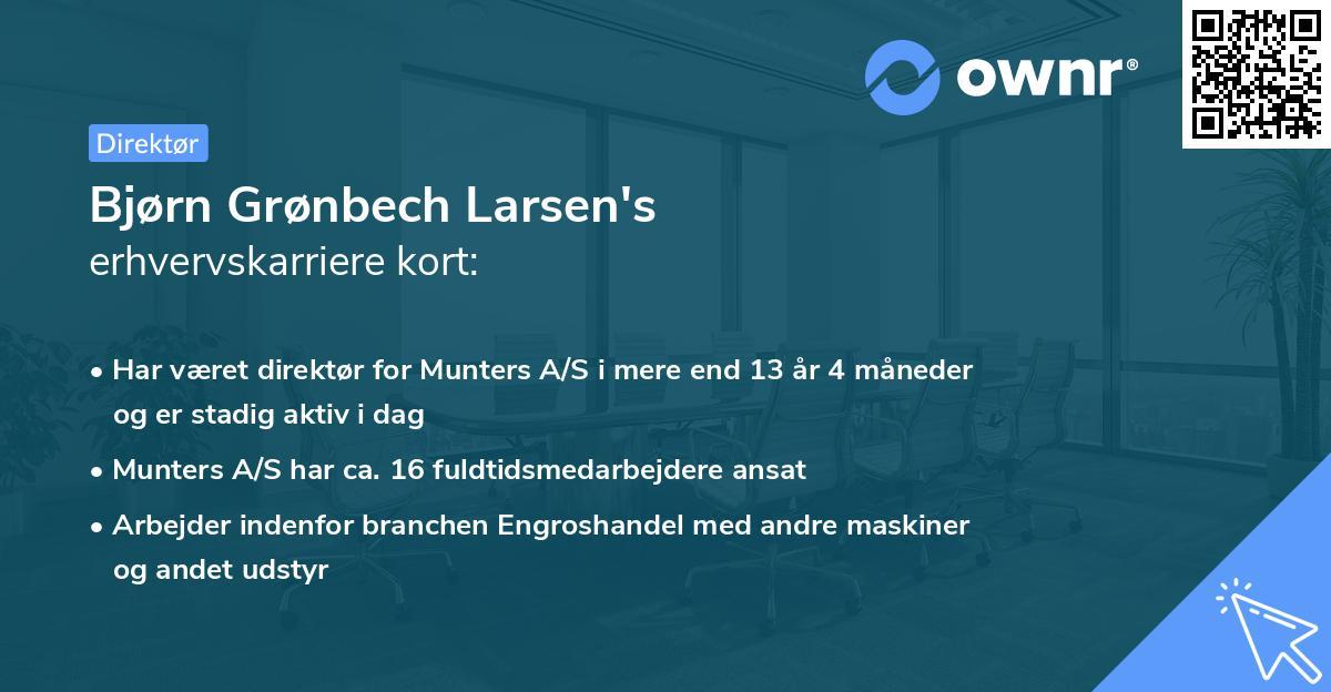 Bjørn Grønbech Larsen's erhvervskarriere kort