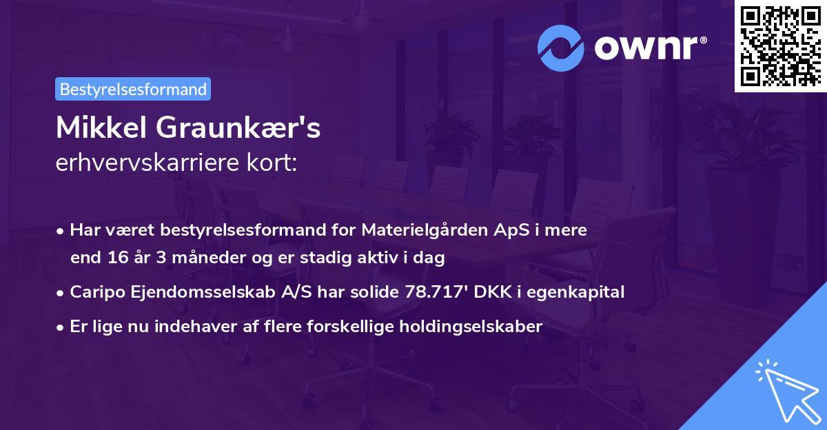 Mikkel Graunkær's erhvervskarriere kort