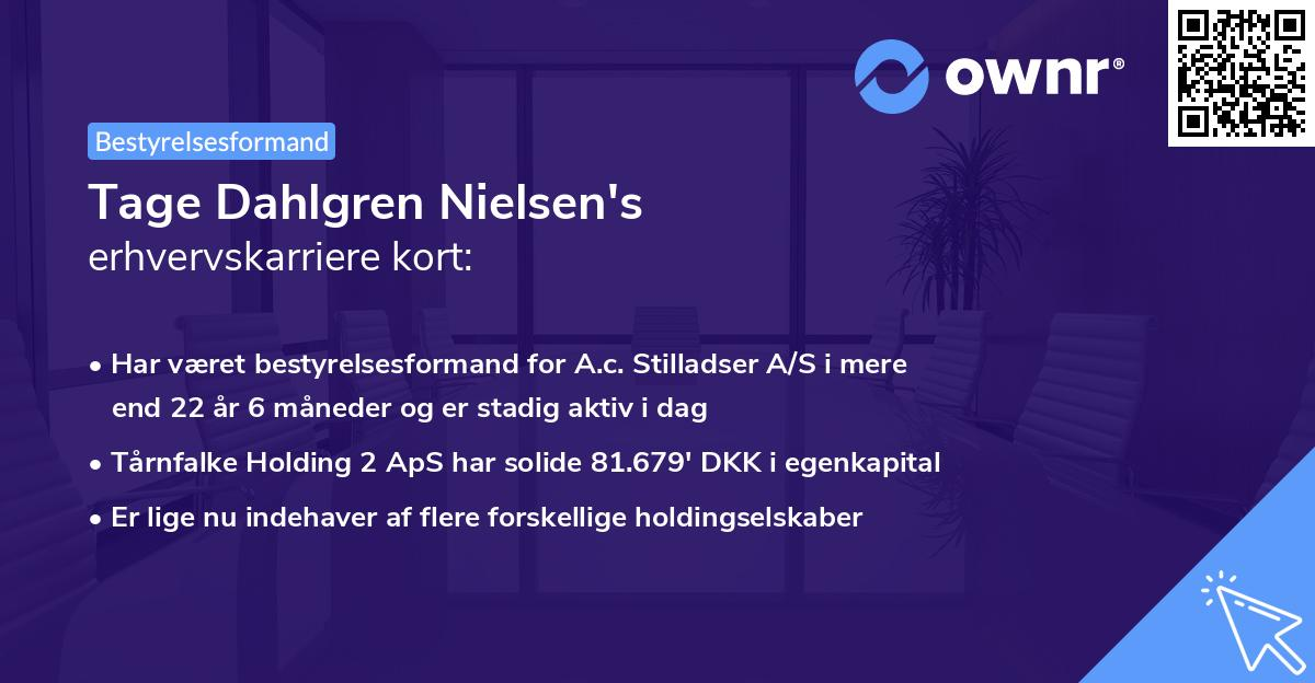 Tage Dahlgren Nielsen's erhvervskarriere kort