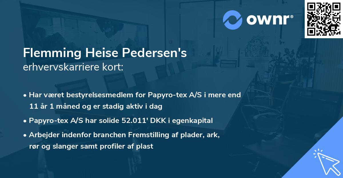 Flemming Heise Pedersen's erhvervskarriere kort