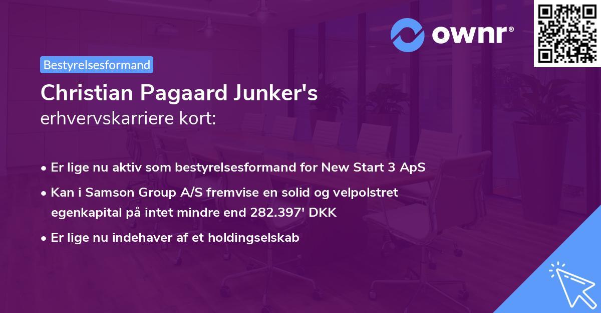 Christian Pagaard Junker's erhvervskarriere kort