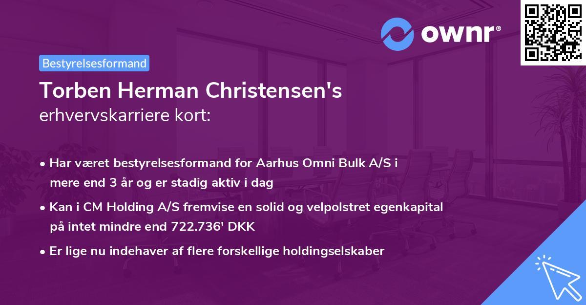 Torben Herman Christensen's erhvervskarriere kort