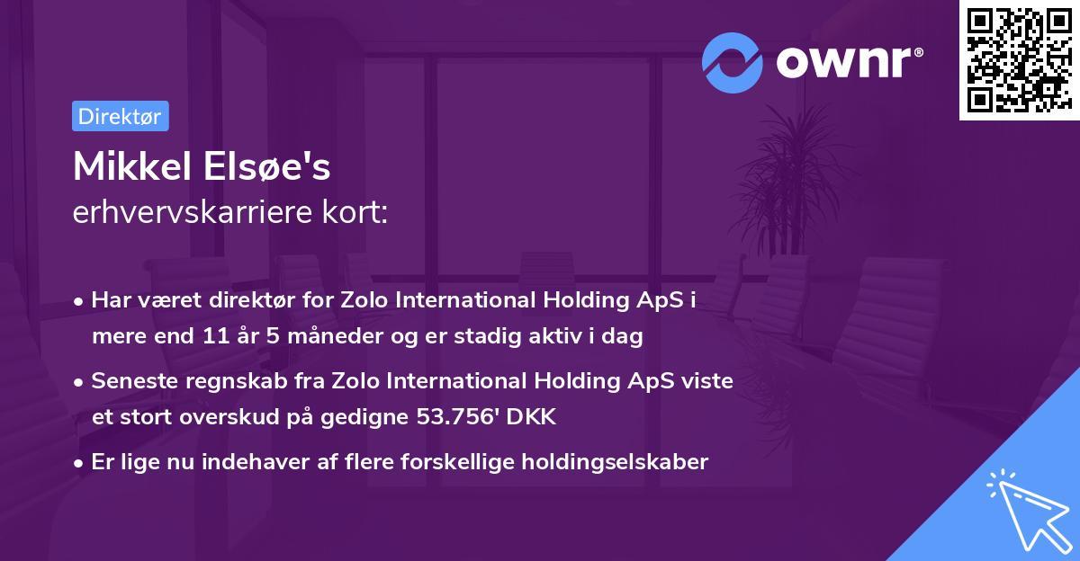 Mikkel Elsøe's erhvervskarriere kort