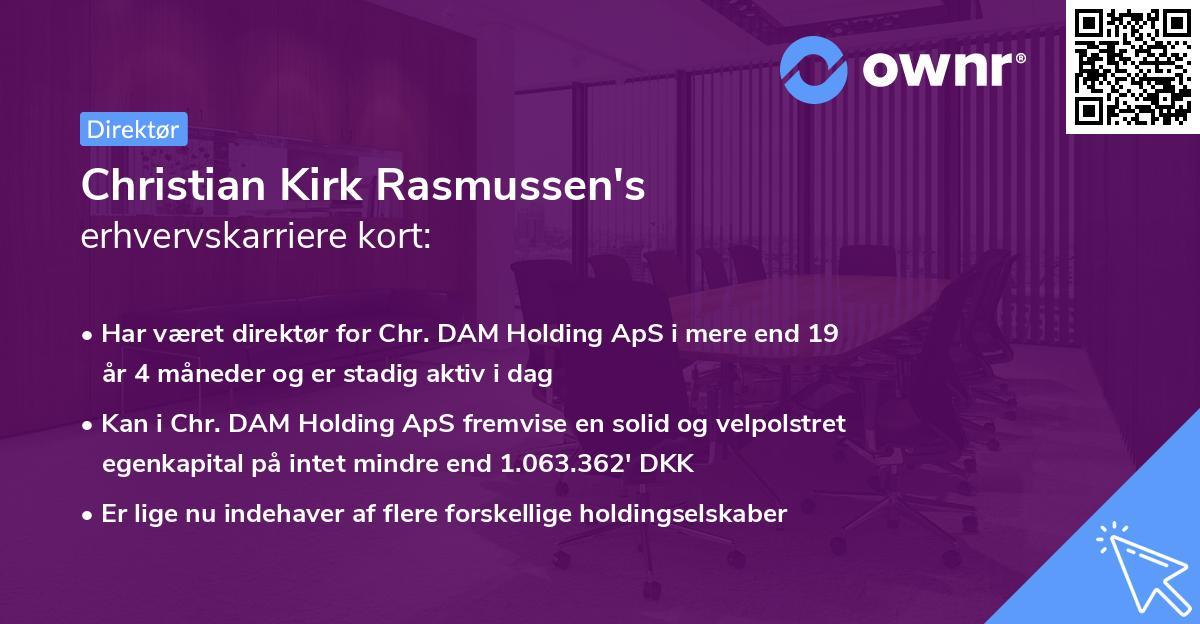 Christian Kirk Rasmussen's erhvervskarriere kort