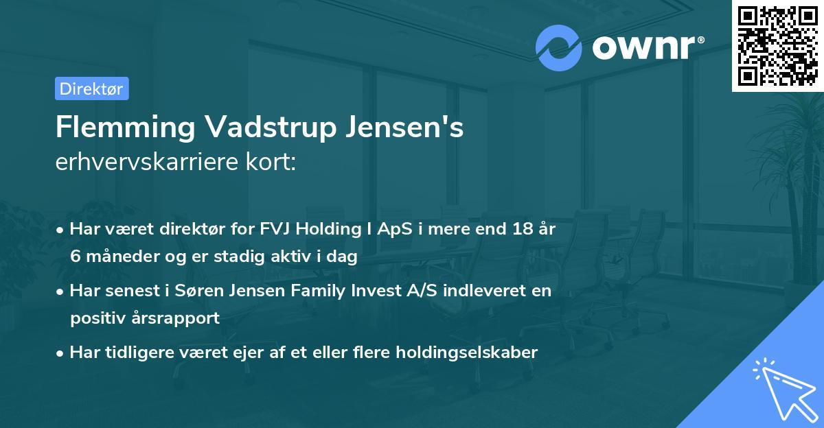 Flemming Vadstrup Jensen's erhvervskarriere kort