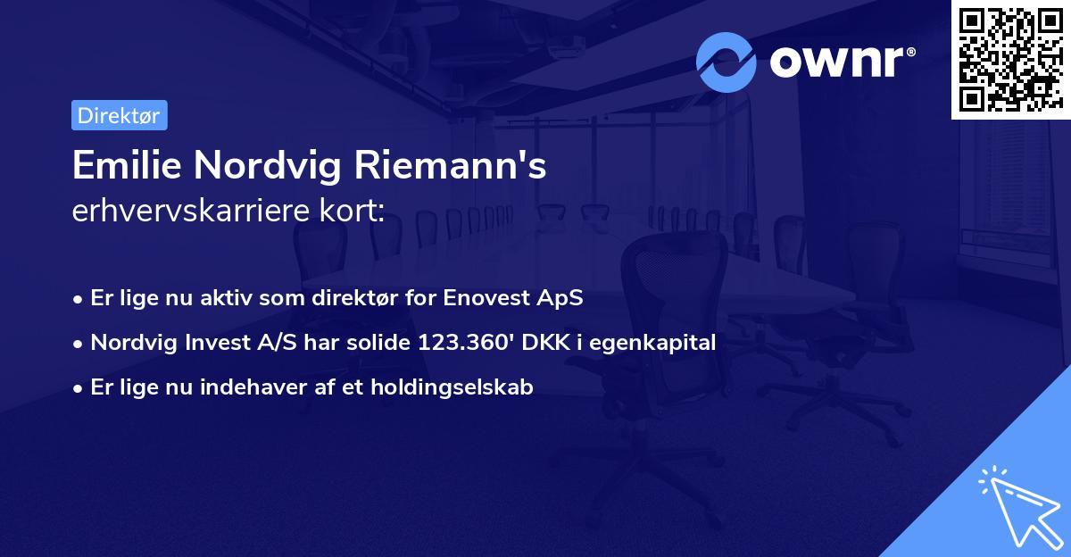 Emilie Nordvig's erhvervskarriere kort