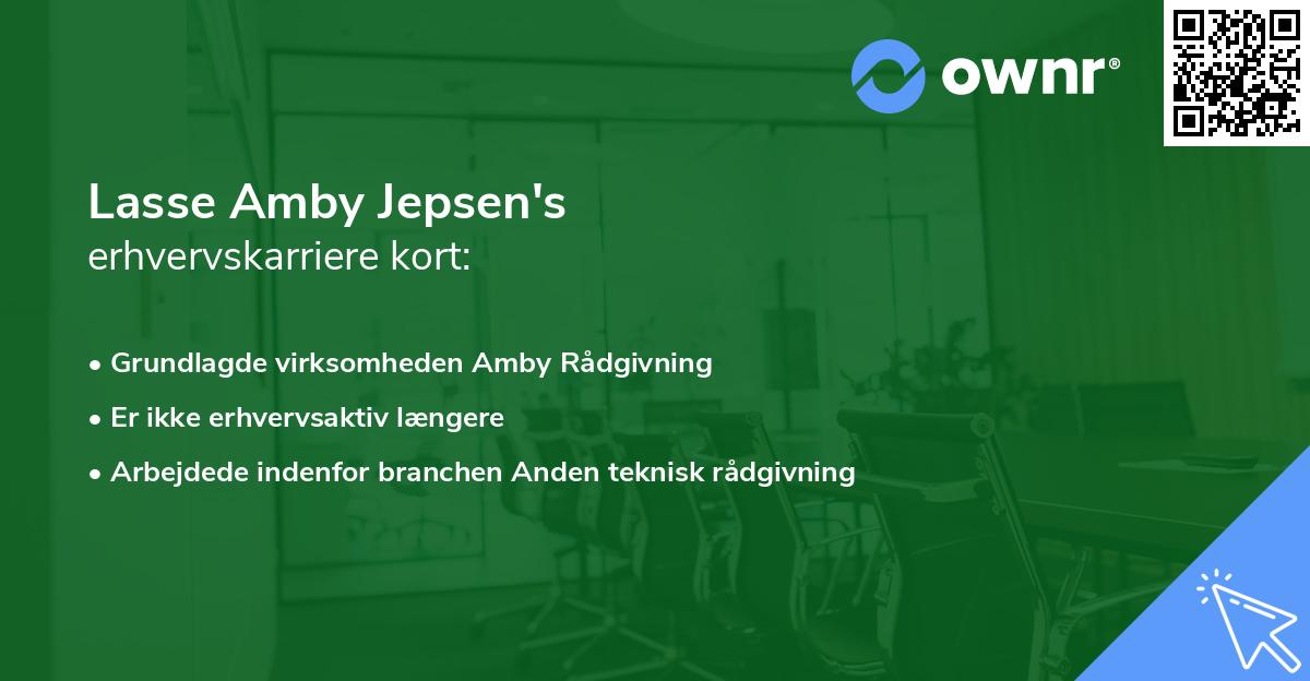 Lasse Amby Jepsen's erhvervskarriere kort