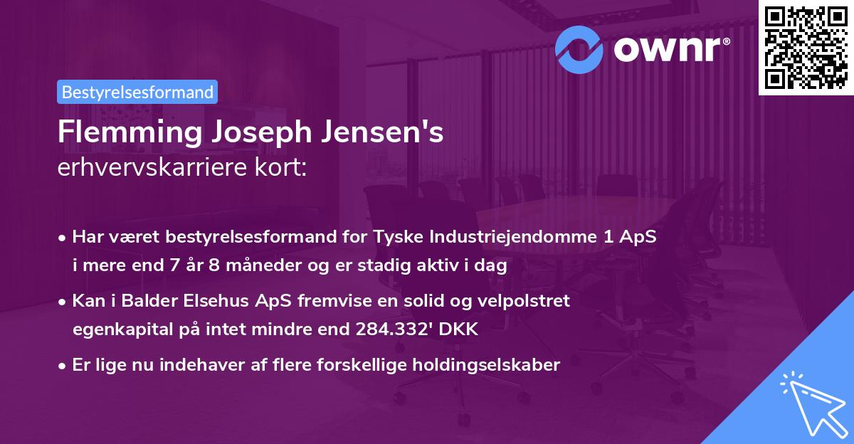 Flemming Joseph Jensen's erhvervskarriere kort