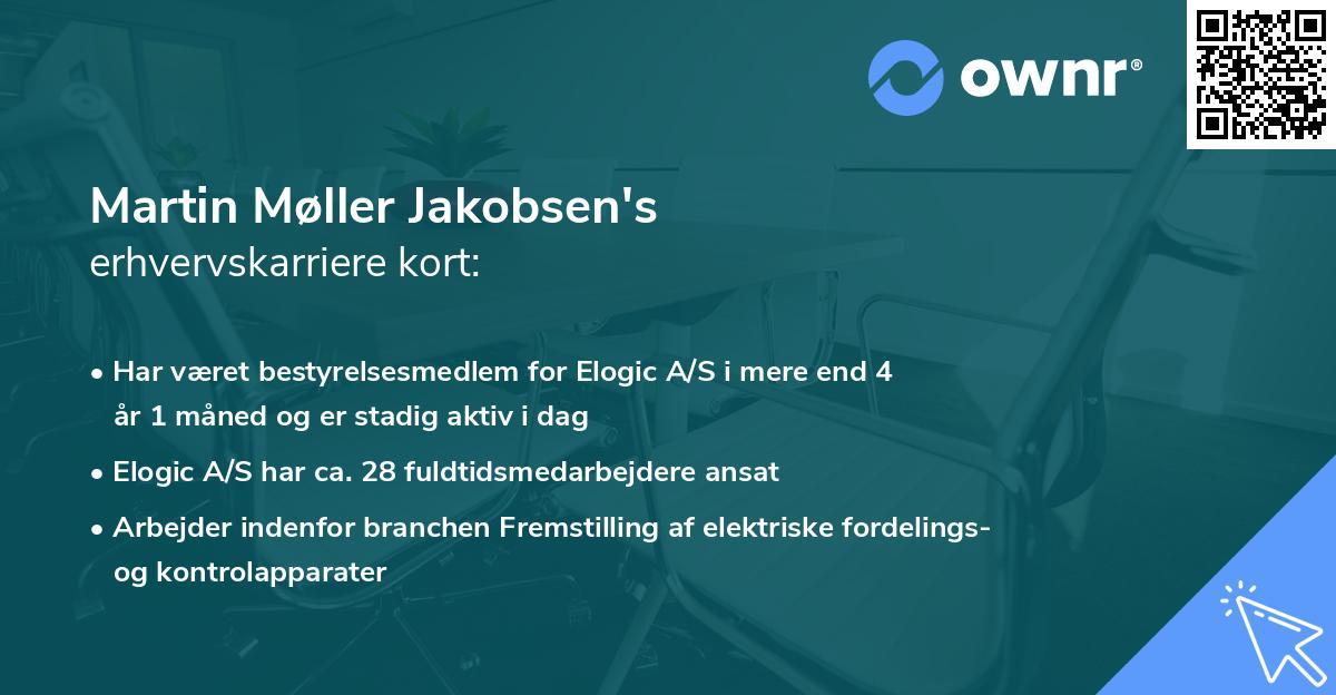 Martin Møller Jakobsen's erhvervskarriere kort