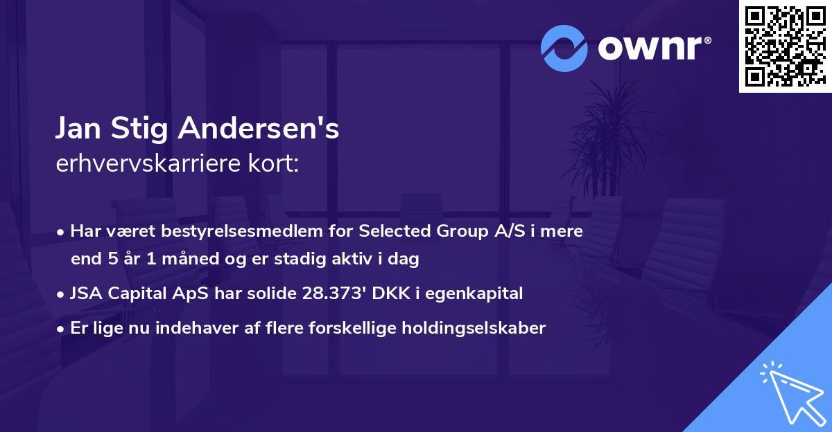 Jan Stig Andersen's erhvervskarriere kort