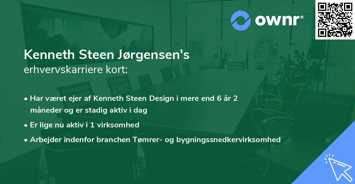 Kenneth Steen Jørgensen's erhvervskarriere kort