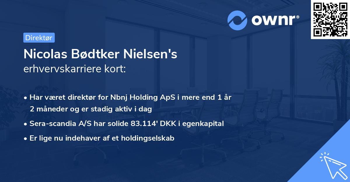 Nicolas Bødtker Nielsen's erhvervskarriere kort