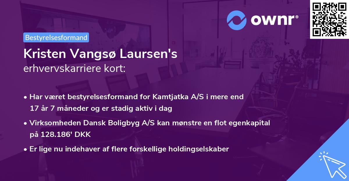 Kristen Vangsø Laursen's erhvervskarriere kort