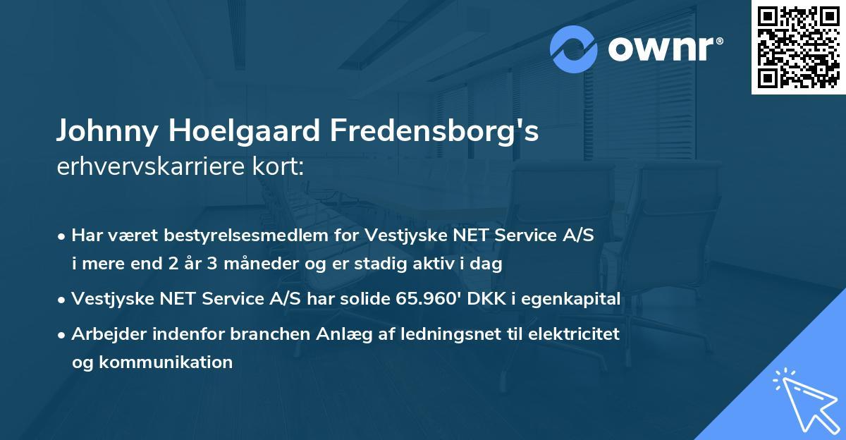 Johnny Hoelgaard Fredensborg's erhvervskarriere kort