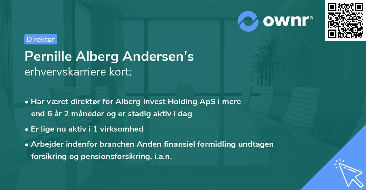 Pernille Alberg Andersen's erhvervskarriere kort