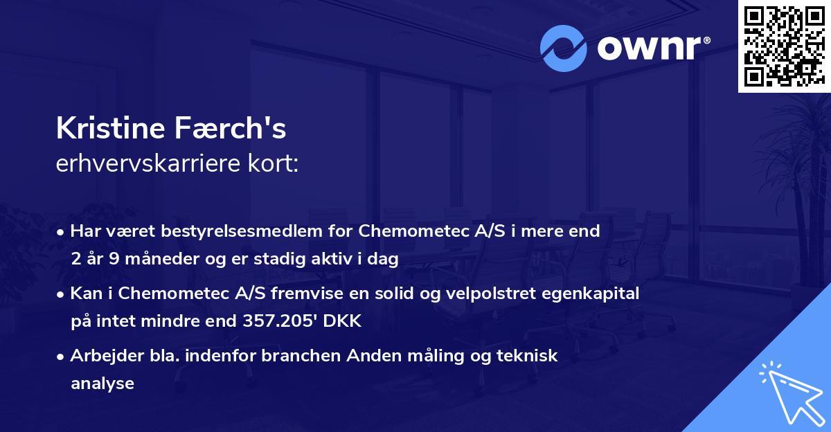 Kristine Færch's erhvervskarriere kort