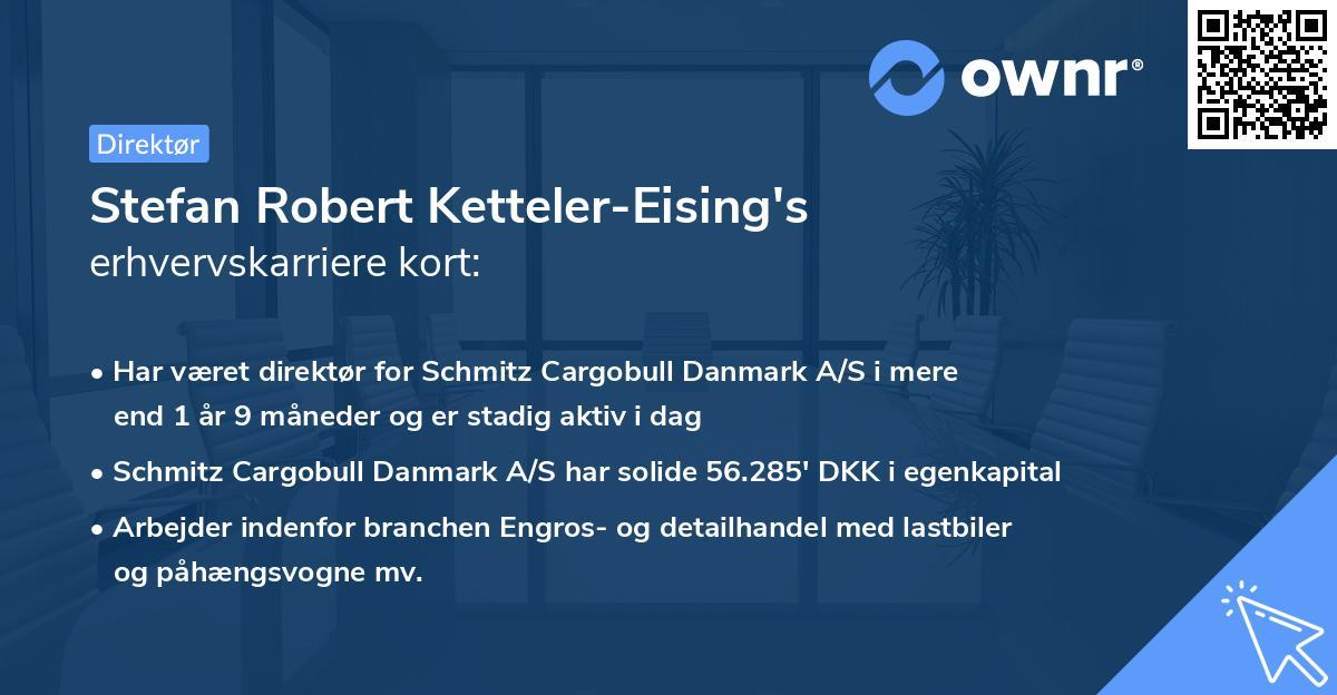 Stefan Robert Ketteler-Eising's erhvervskarriere kort