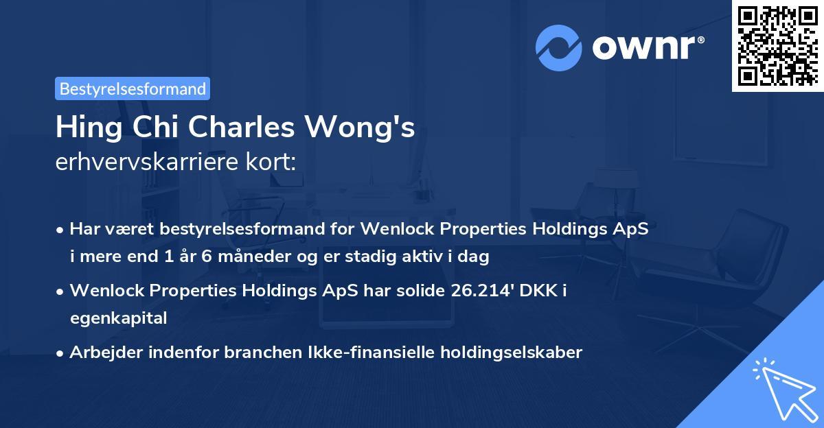 Hing Chi Charles Wong's erhvervskarriere kort