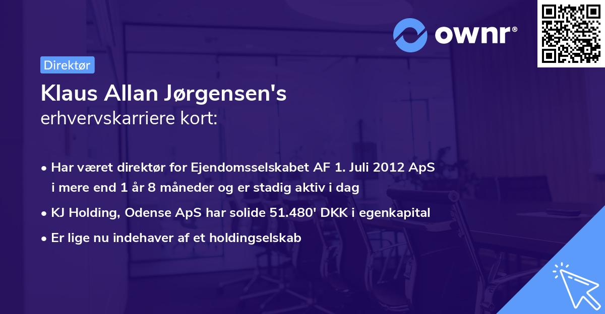 Klaus Allan Jørgensen's erhvervskarriere kort