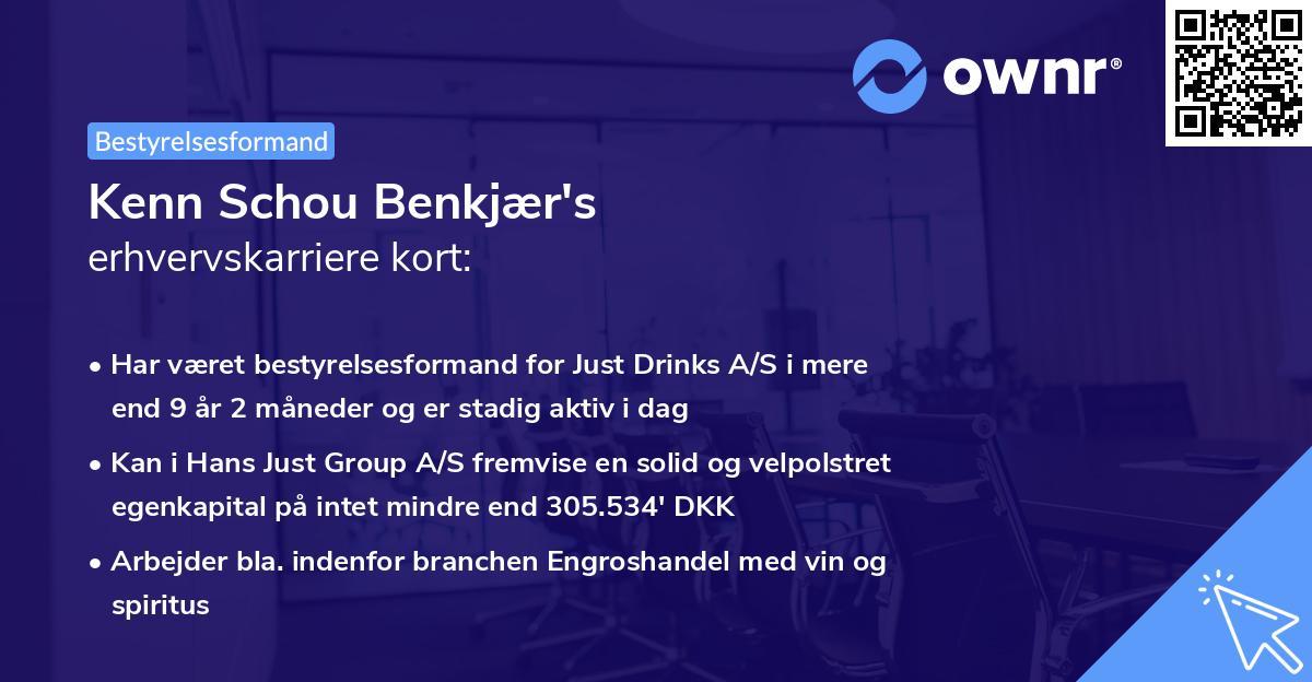 Kenn Schou Benkjær's erhvervskarriere kort