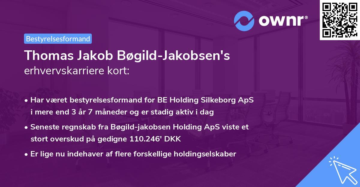 Thomas Jakob Bøgild-Jakobsen's erhvervskarriere kort