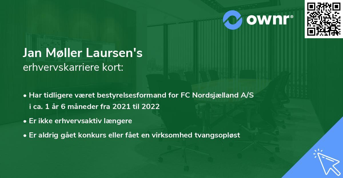 Jan Møller Laursen's erhvervskarriere kort