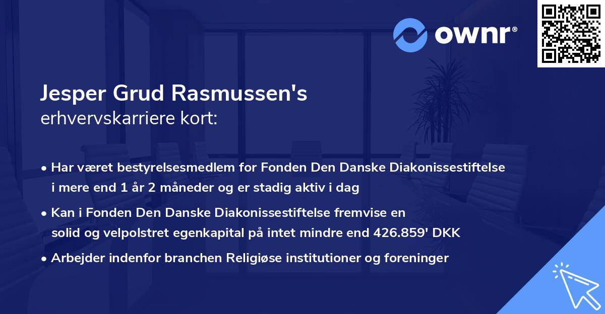 Jesper Grud Rasmussen's erhvervskarriere kort