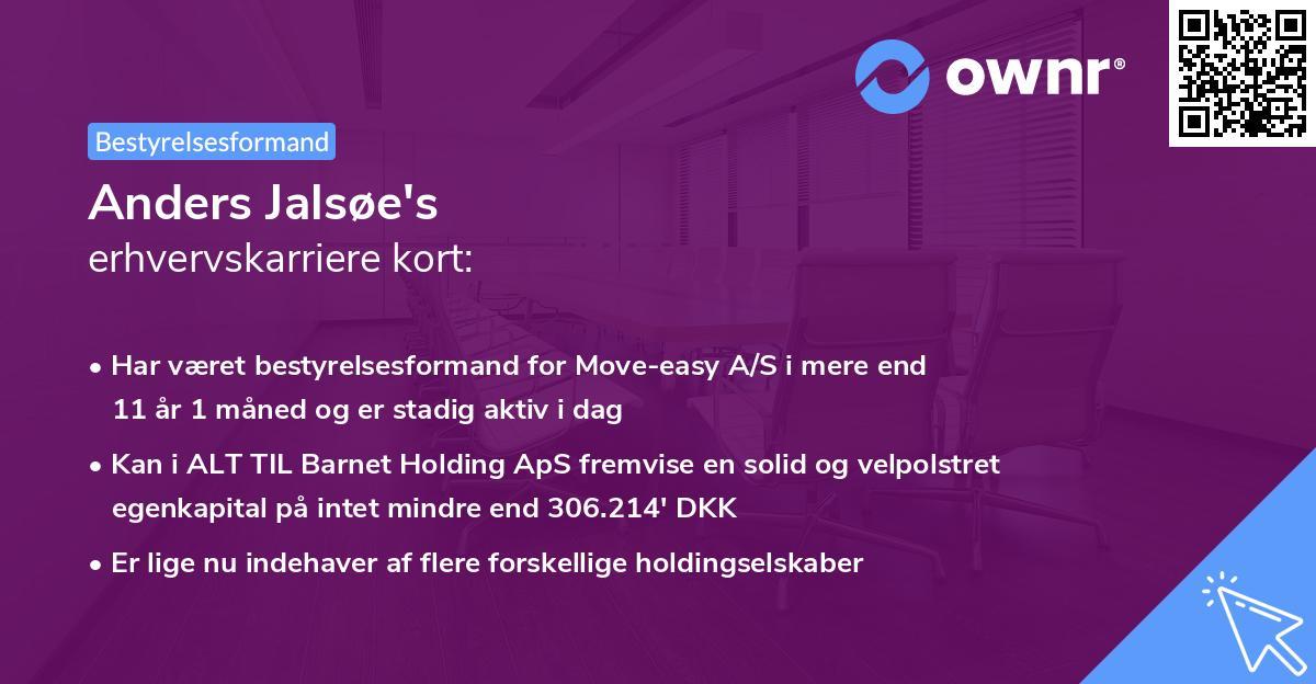 Anders Jalsøe's erhvervskarriere kort