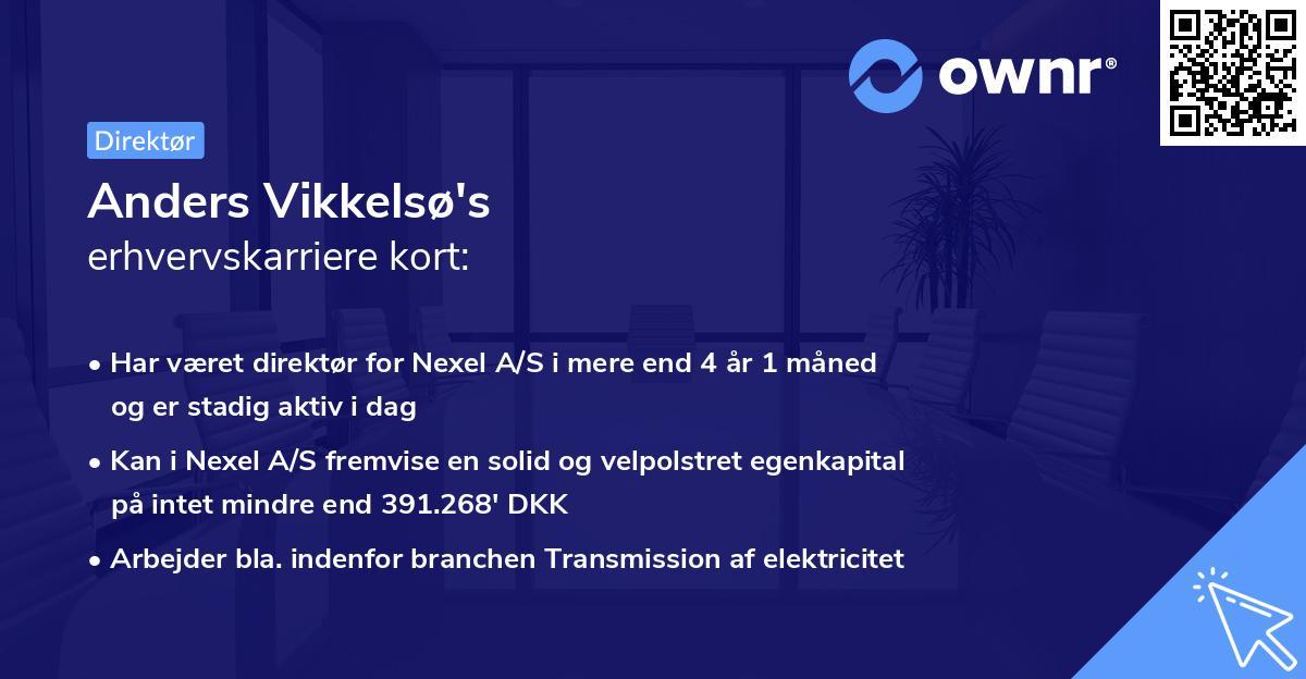 Anders Vikkelsø's erhvervskarriere kort