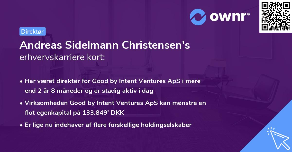 Andreas Sidelmann Christensen's erhvervskarriere kort