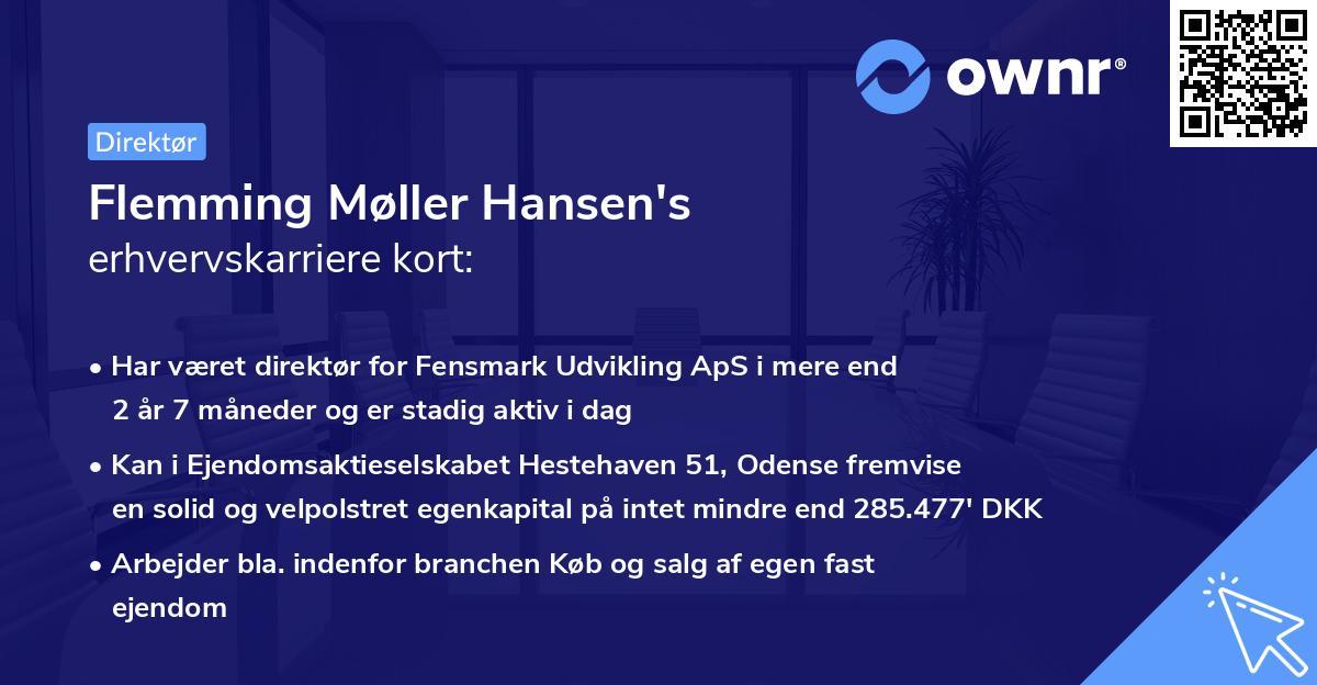 Flemming Møller Hansen's erhvervskarriere kort
