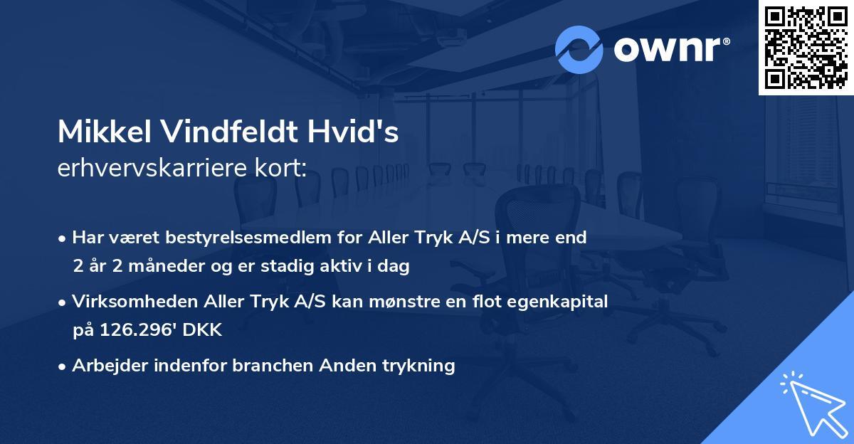 Mikkel Vindfeldt Hvid's erhvervskarriere kort