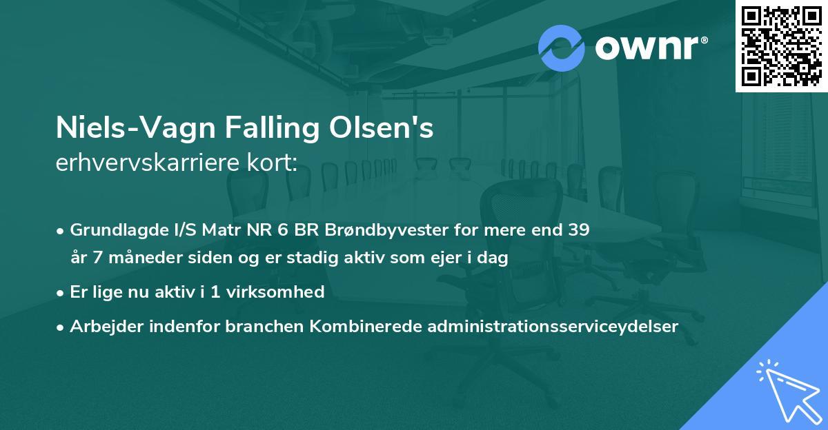 Niels-Vagn Falling Olsen's erhvervskarriere kort