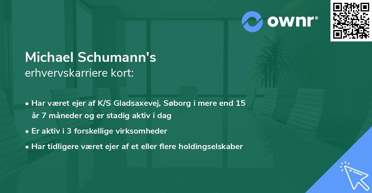 Michael Schumann's erhvervskarriere kort