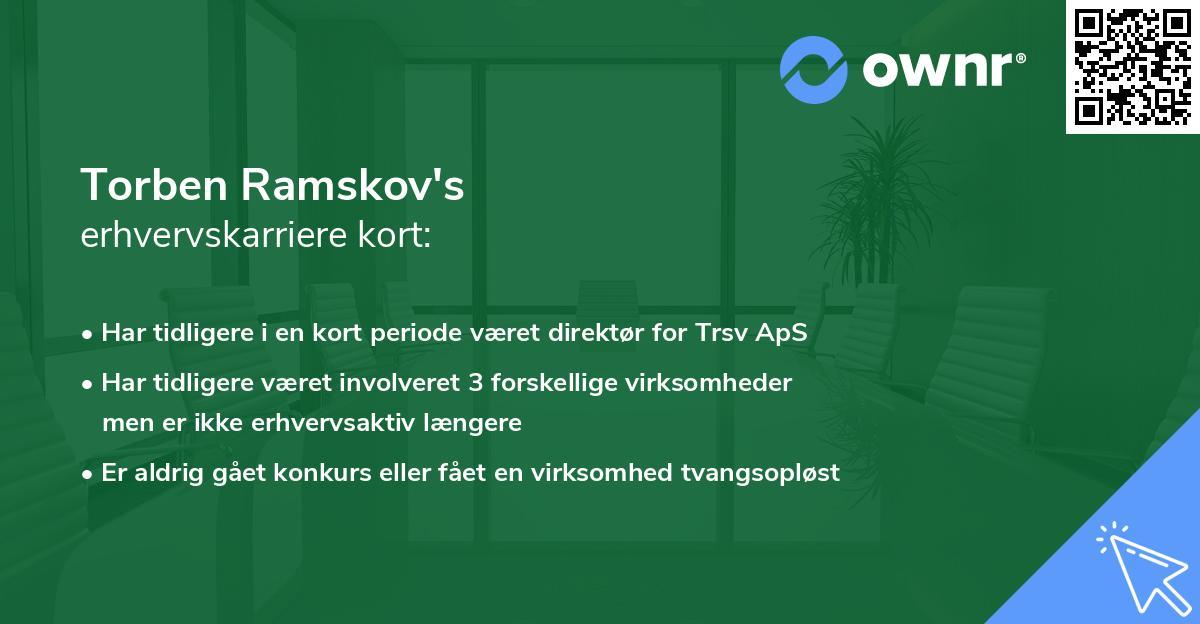 Torben Ramskov Jensen's erhvervskarriere kort