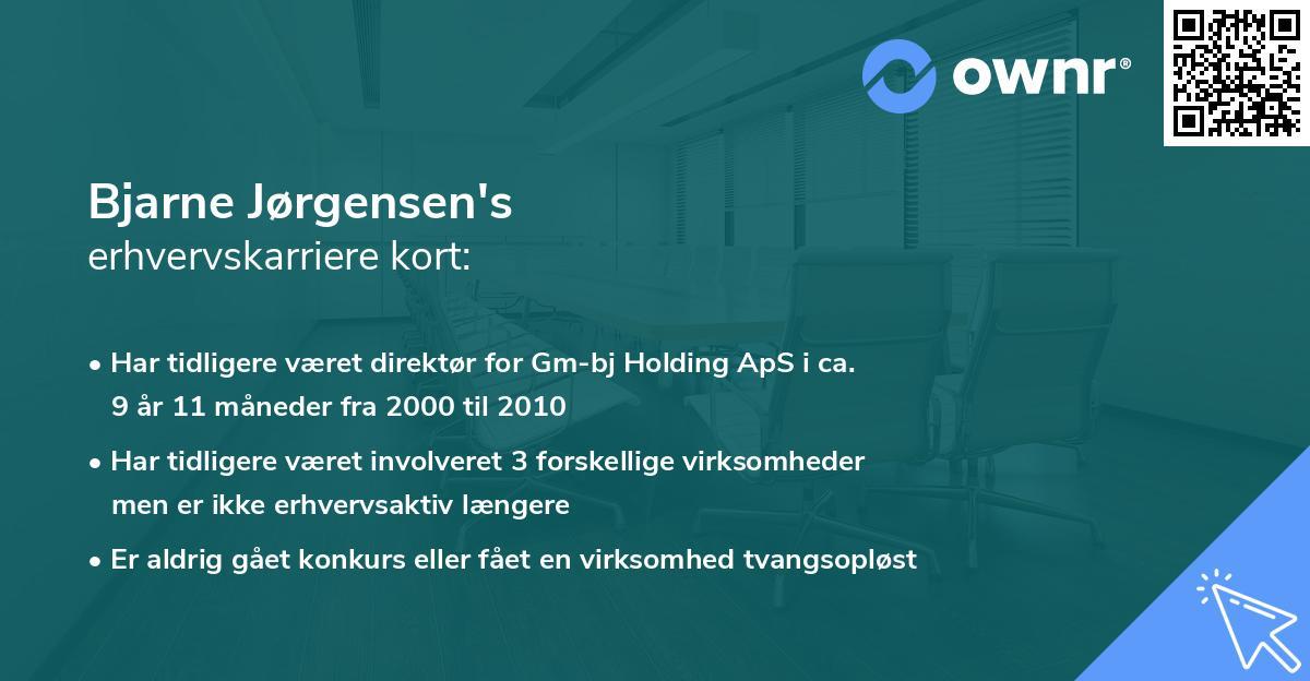 Bjarne Jørgensen's erhvervskarriere kort