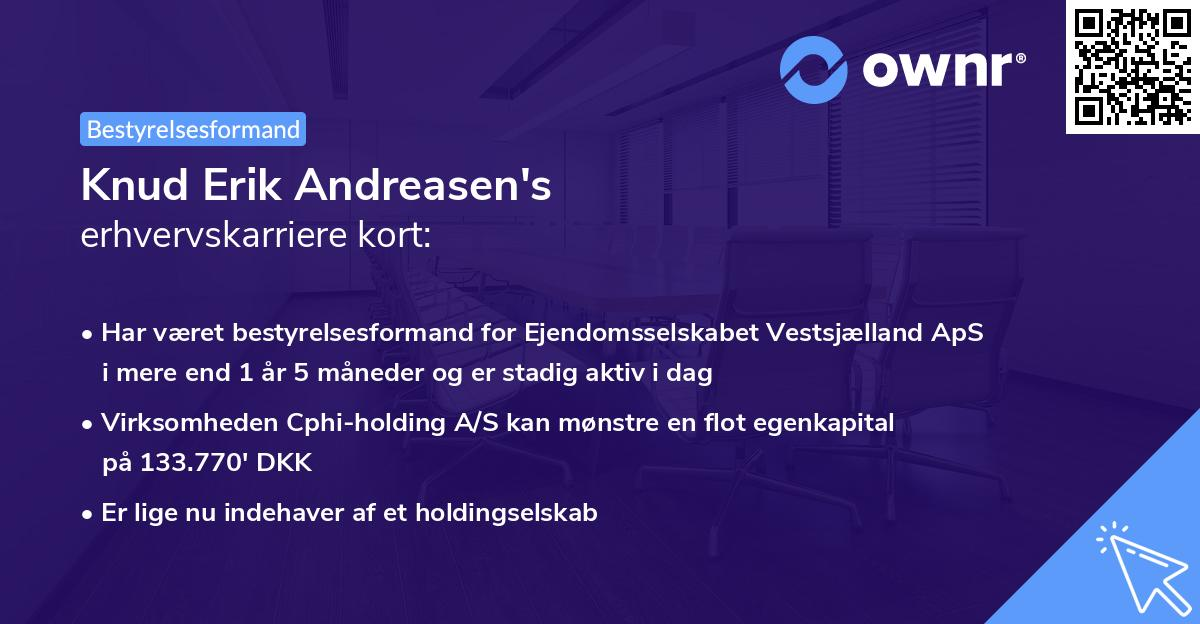Knud Erik Andreasen's erhvervskarriere kort