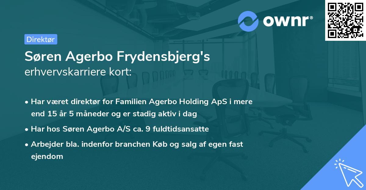 Søren Agerbo Frydensbjerg's erhvervskarriere kort