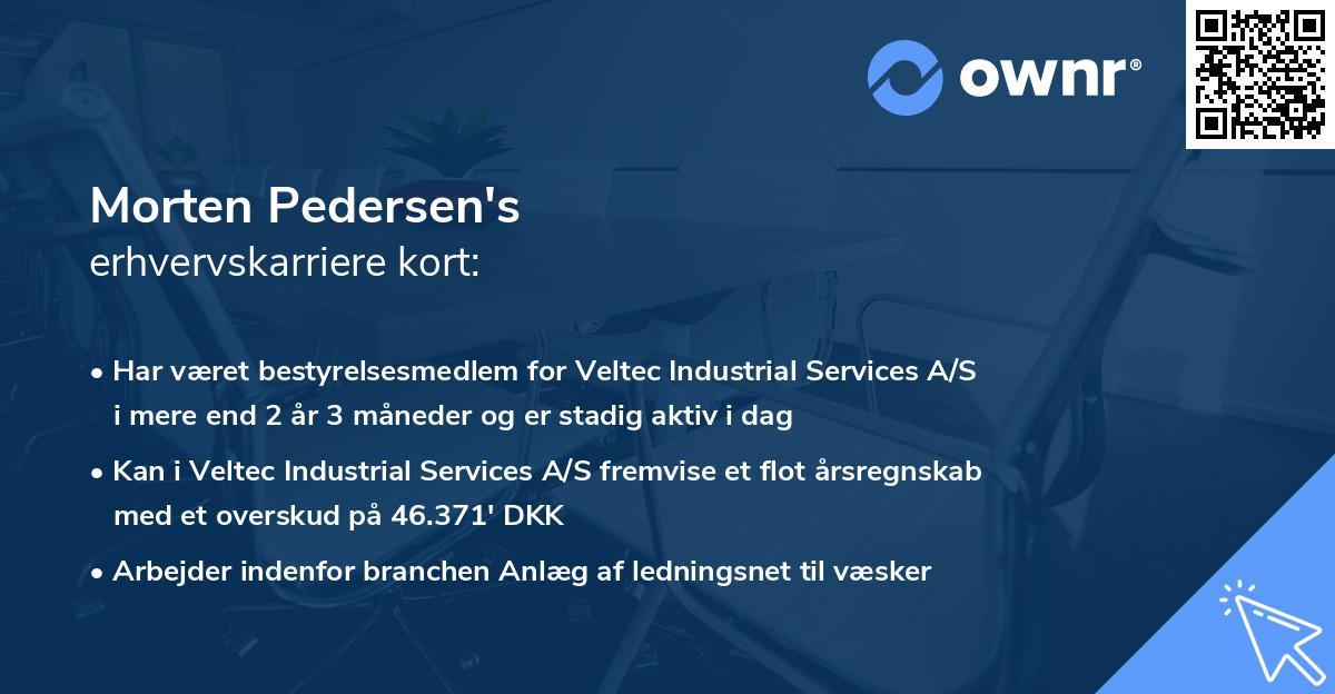 Morten Pedersen's erhvervskarriere kort