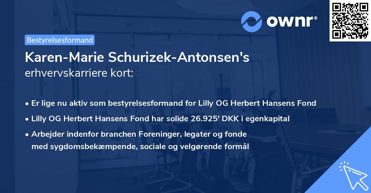 Karen-Marie Schurizek-Antonsen's erhvervskarriere kort