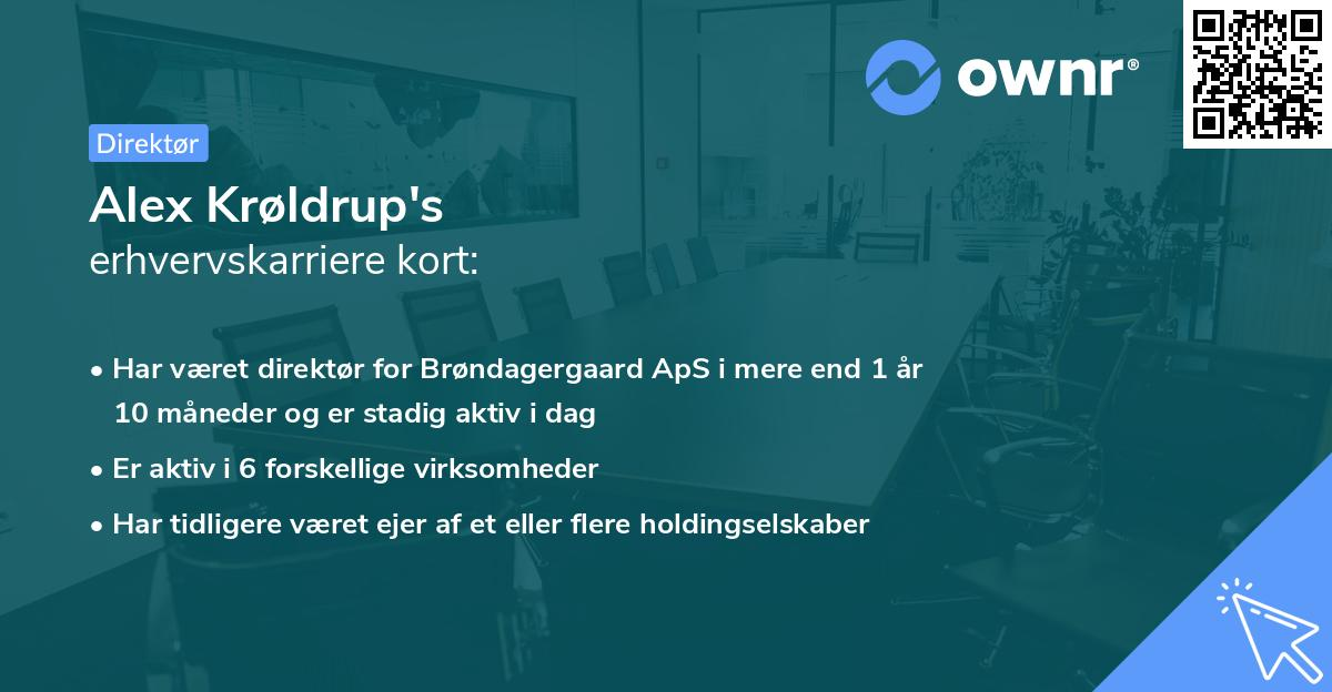 Alex Krøldrup's erhvervskarriere kort
