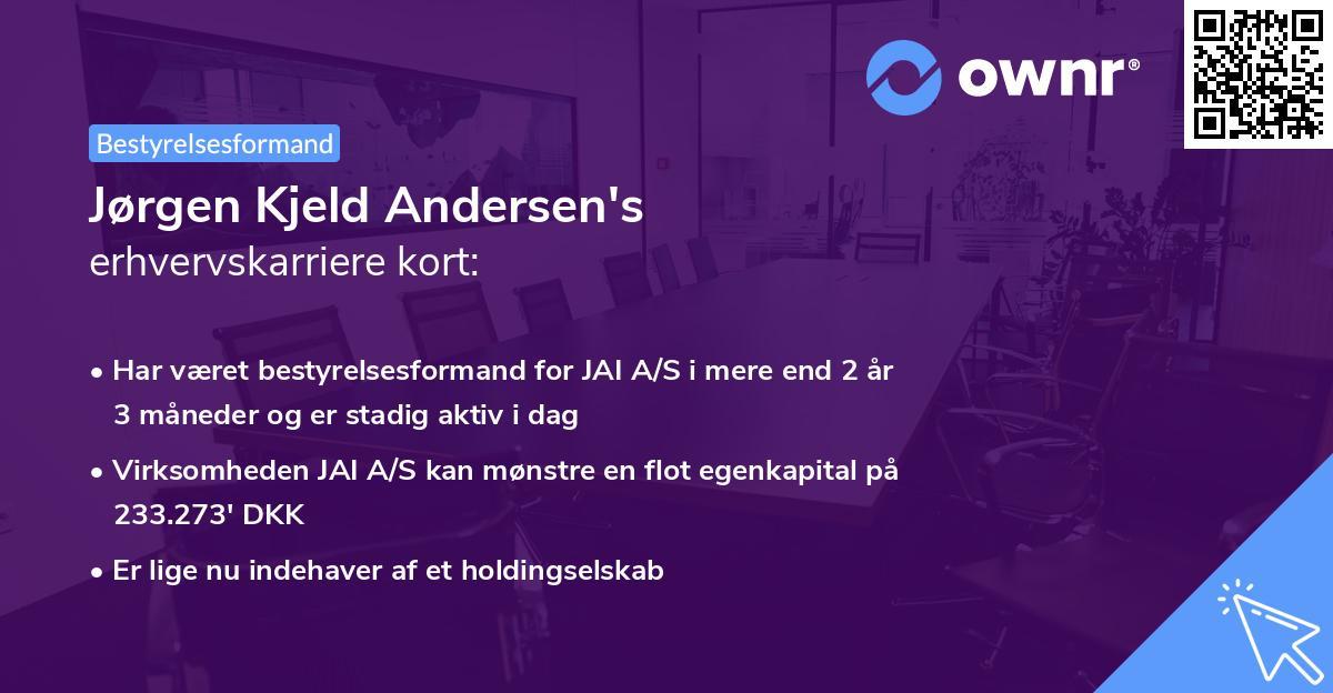 Jørgen Kjeld Andersen's erhvervskarriere kort