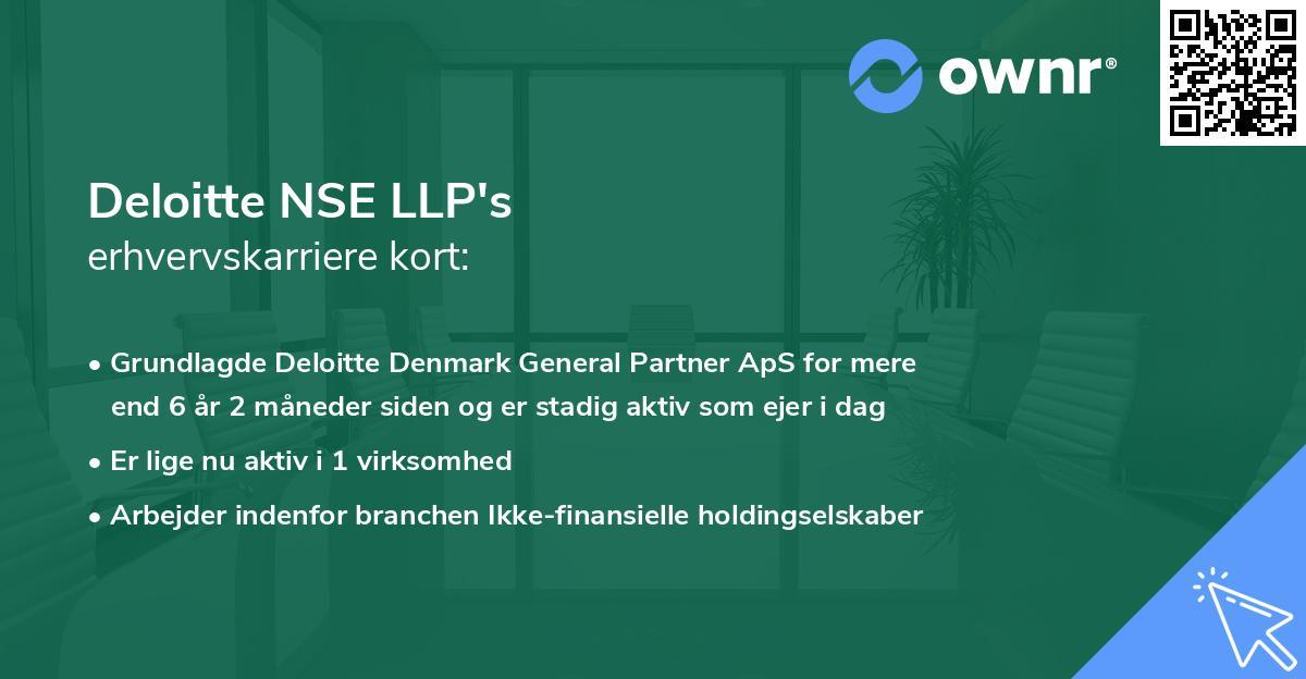 Deloitte NSE LLP's erhvervskarriere kort