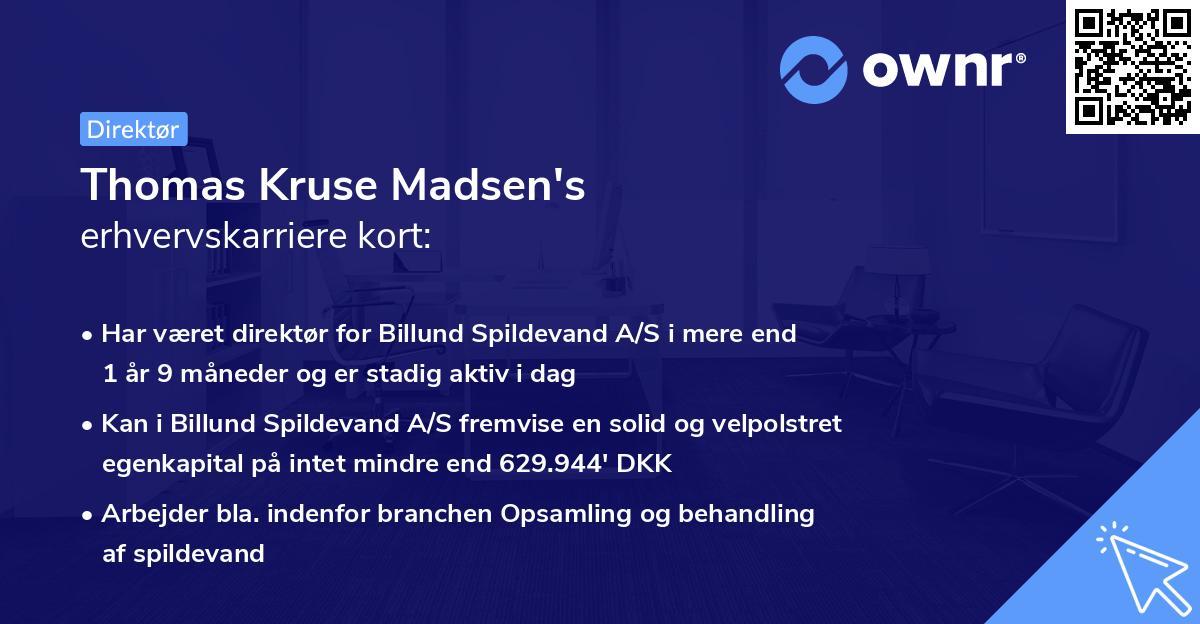 Thomas Kruse Madsen's erhvervskarriere kort