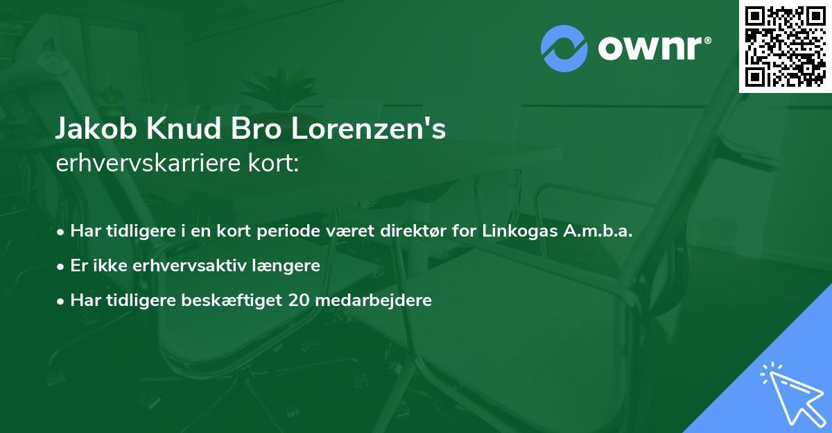 Jakob Knud Bro Lorenzen's erhvervskarriere kort